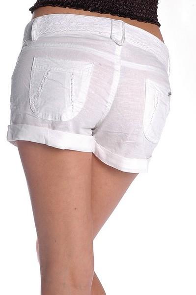 Short long femme en lin