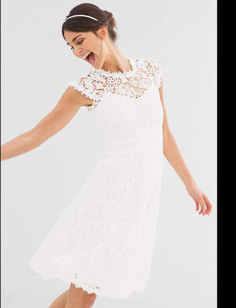 471862720f6 Robe blanche coton dentelle - Vetement fitness et mode