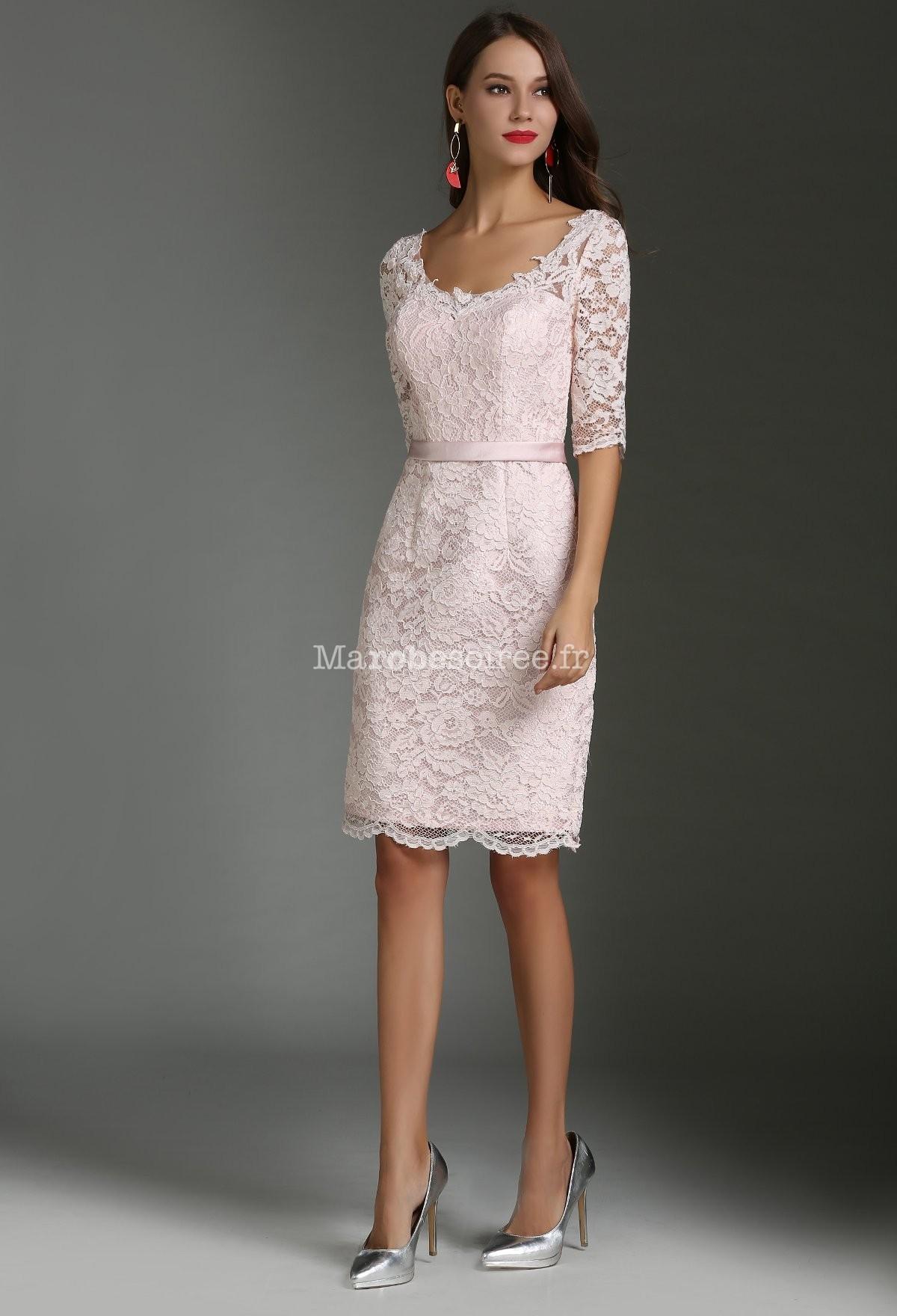 fdffddbcbb112 Robe dentelle rose mariage - Vetement fitness et mode