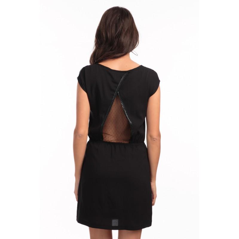a6977276bdc Robe dos dentelle noir - Vetement fitness et mode