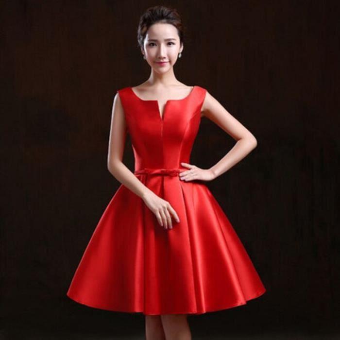 8f829f67609 Robe de cocktail courte rouge - Vetement fitness et mode