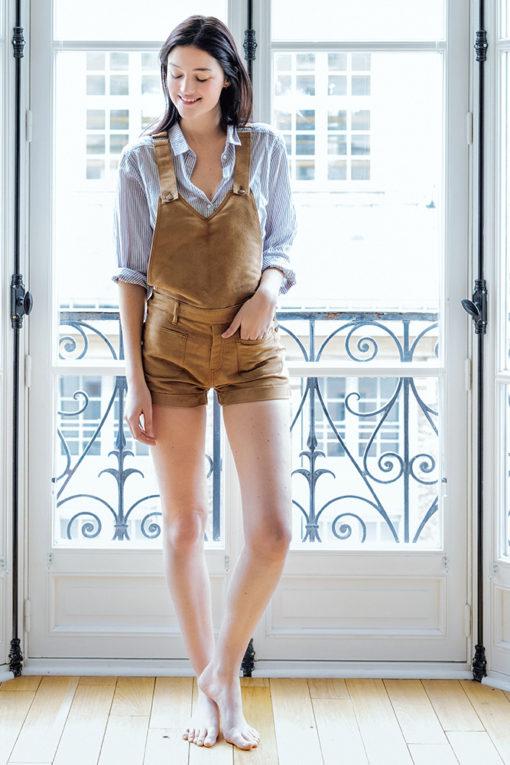 Short camel daim femme - Vetement fitness et mode e666094631a
