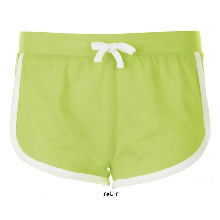 Short femme vert fluo - Vetement fitness et mode 7e0c5e4ec17