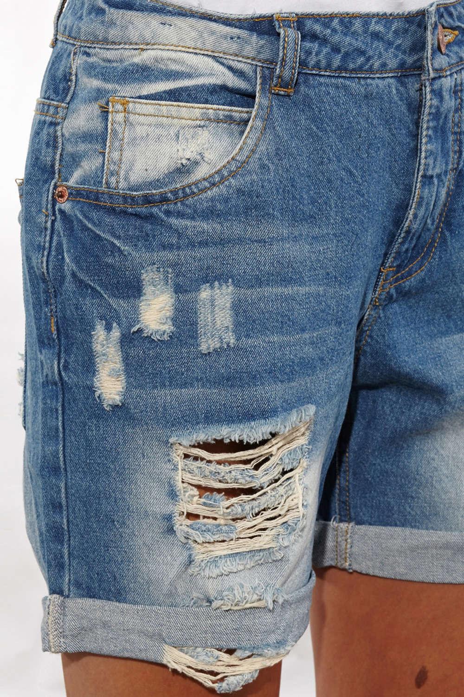 Short en jean femme destroy - Vetement fitness et mode e45154e2634