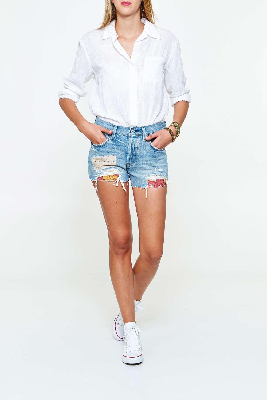 Short jeans femme levis - Vetement fitness et mode 7f85ba6f851