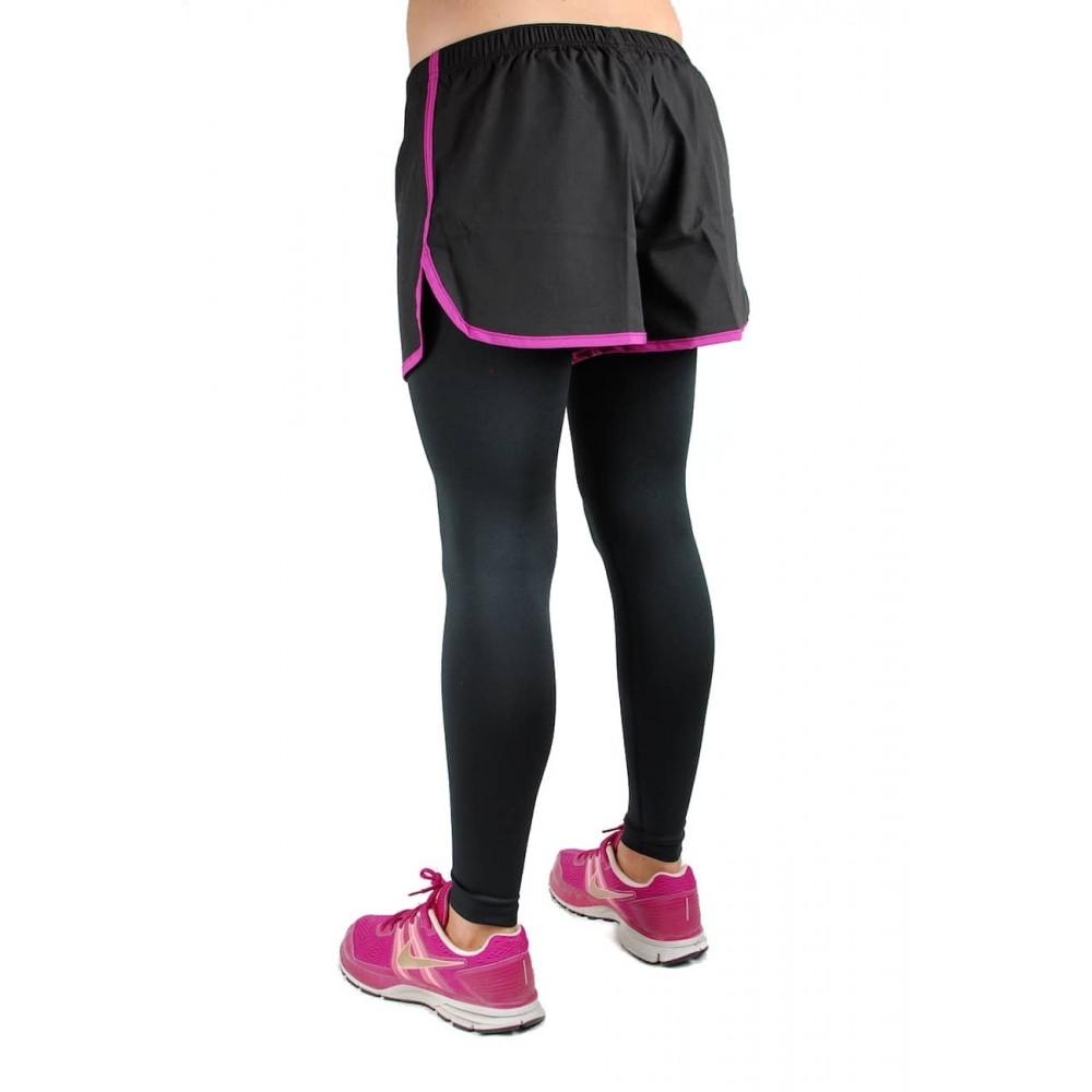 Short legging noir femme