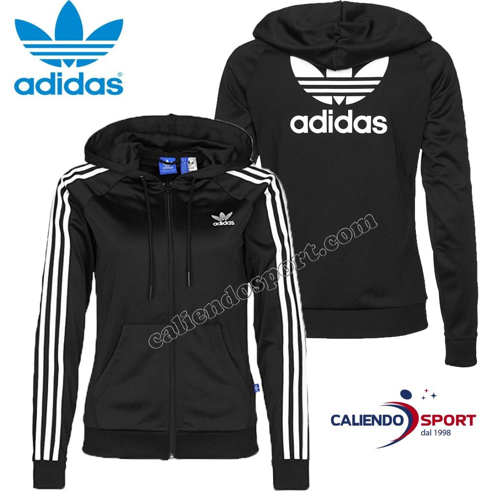 newest collection 1eda1 06d3d tricot-veste-femme-adidas -originals-ay8128-slim-fz-hoodie-noir-blanc-sweat-shirt.jpg