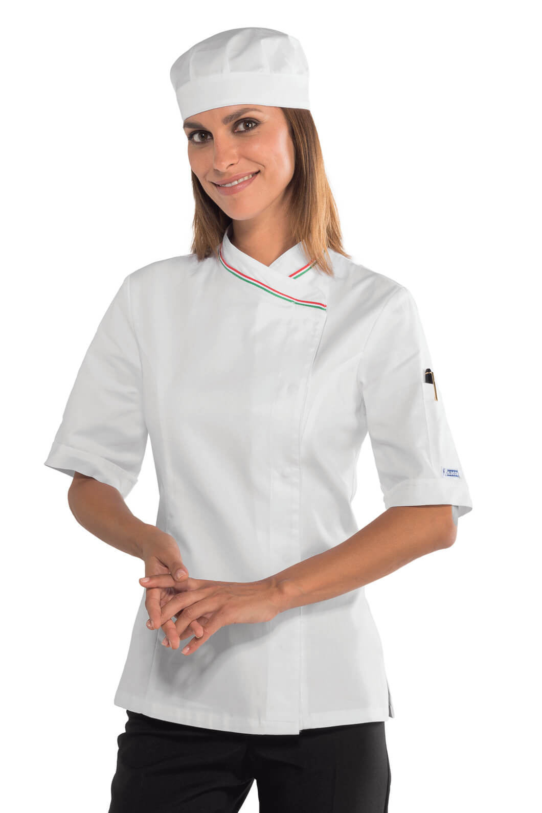 Veste blanche femme manche courte
