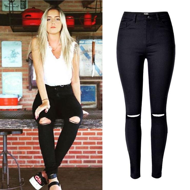 Legging jean taille haute