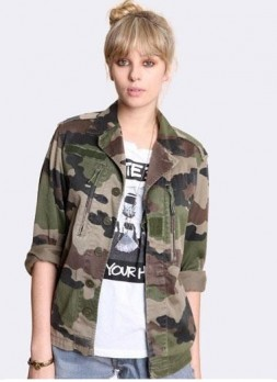 Veste femme imprimé camouflage