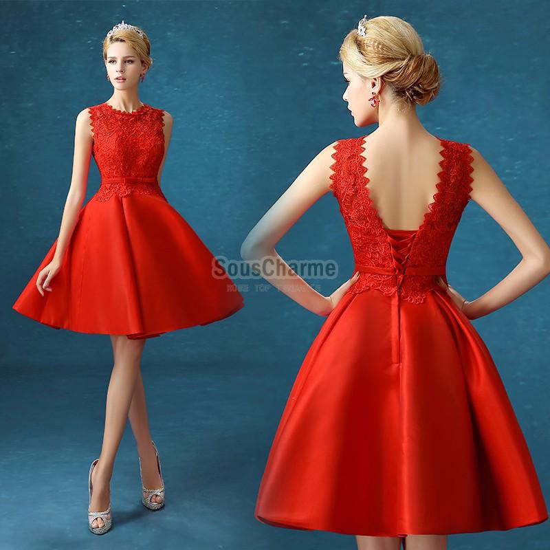 715dd30670221 Robe rouge ceremonie - Vetement fitness et mode