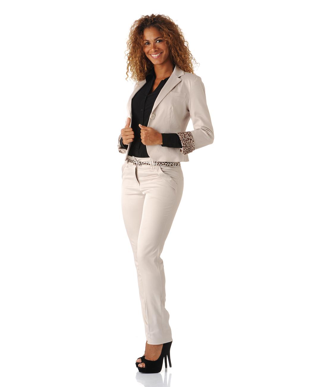 Ensemble veste pantalon femme en lin - Vetement fitness et mode e27491a2f606