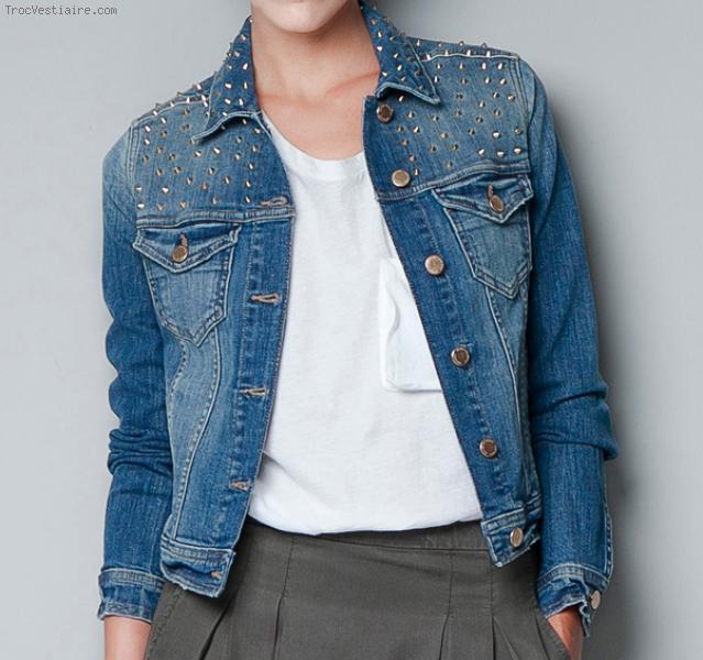 Veste en jean femme zara pas cher - Vetement fitness et mode bdb49ad8afb1