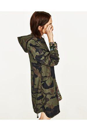 Parka camouflage femme