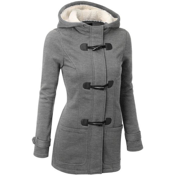 Parka gris foncé femme - Vetement fitness et mode 0e0ca9793891