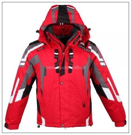 Parka ski femme rouge
