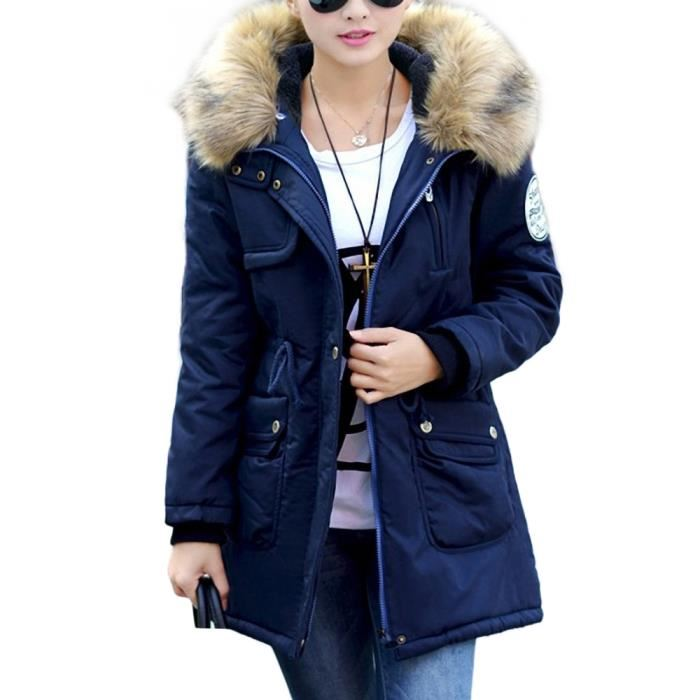 Parka femme hiver bleu